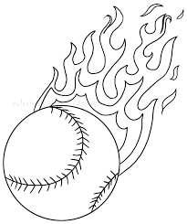 baseball coloring pages fire ball coloringstar