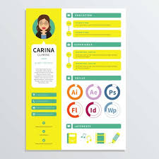 designer resume template graphic designer resume template free vector stock