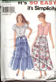 s blouse patterns 8361 tiered skirt tie front blouse pattern s xl