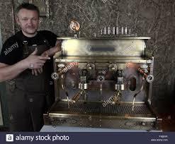 minsk belarus 31st aug 2015 belarusian steampunk master dmitry
