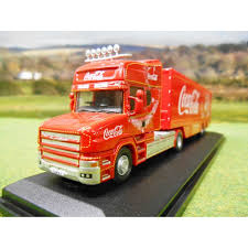 oxford official coca cola scania t cab truck 1 76
