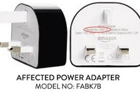 amazon black friday usb power adapter amazon recall fire power adaptors over electric shock fears