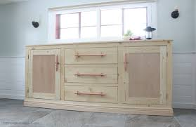 Kitchen Cabinet Drawer Construction by Ana White Extra Long Buffet Cabinet Diy Projects