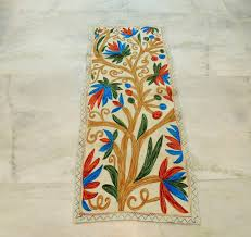 Floral Runner Rug Runner Rugs Tree Of Life Floral Wool Embroidered Rug Discovered