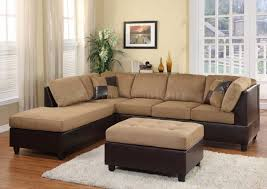 Leather And Suede Sectional Sofa Sectional Sofas Living Room Microsuede Sectional For