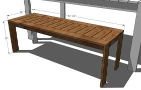 Free Woodworking Plans Patio Table by Outdoor Wood Bench Plans Treenovation
