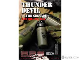 aps thunder devil co2 single use bb grenade shell package set of