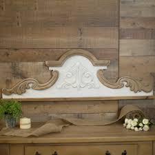 decorative wooden wall scroll antique farmhouse