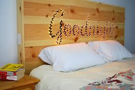 diy headboard with lights delightful diy headboard designs for elegant look in the bedroom