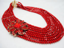 beaded red necklace images Red crystal bead necklace images jpg