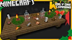 minecraft christmas dinner items with only one command block