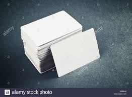 Business Cards Rounded Corners Blank Business Cards With Rounded Corners On Office Table Stock