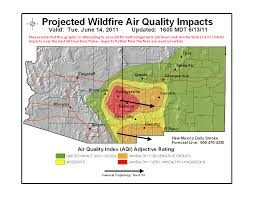 Fires In New Mexico Map by U S Air Quality June 2011 Archives