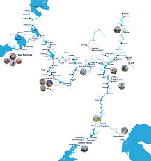 Volga River Map Ports Of Call Russian River Cruises