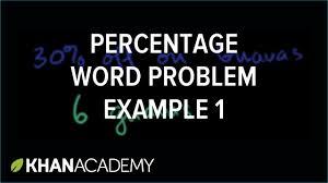 percent word problem example 1 ratios rates and percentages