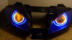 yamaha r6 halo lights 25 2006 2014 yamaha r6 hid projector headlights bixenon dual angel