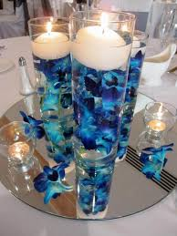 blue centerpieces blue orchid weddings centerpieces wedding party decoration