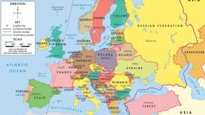 europe map by country map of european countries and cities major tourist