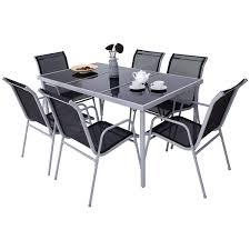 patio furniture 7 dining set costway patio furniture 7 steel table chairs dining set