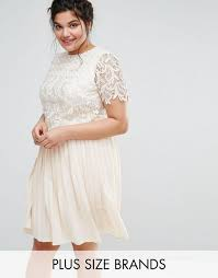 little mistress plus premium lace overlay midi dress with pleated