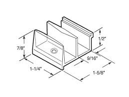 guide 9 16 opening inch clear shower door sterling