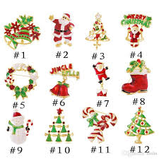 12 style christmas gift brooches colorful christmas pin brooch