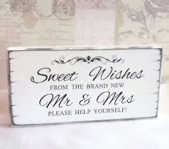 Wedding Table Signs Wedding Sign Sweet Table Sweet Wishes Candy Bar Vintage Wedding