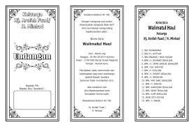 template undangan haul undangan walimatul haul desain kungan