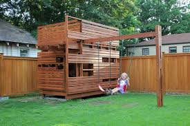 outside playhouse plans cubeplay raleigh cube architects backyard archives design research