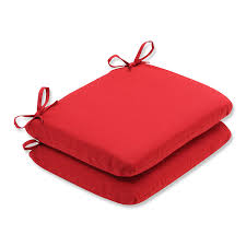 Square Bistro Chair Cushions Amazon Com Pillow Perfect Indoor Outdoor Red Solid Seat Cushion