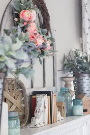 how to decorate pictures how to decorate your mantel for spring the turquoise home