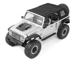jeep soft top black axial jeep wrangler rear slant soft top back by rc4wd rc4zs1735