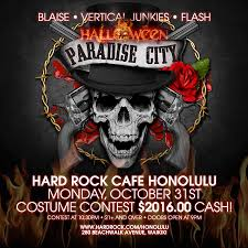 city halloween paradise city halloween at the hard rock waikiki tickets 10 31 16