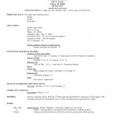 activity resume for college application sle resume phenomenal how to write for college application exles