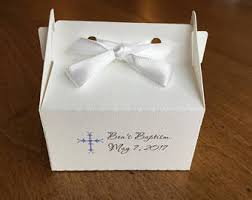 baptism favor boxes white favor box etsy