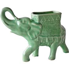 Animal Planter by Porcelain Elephant Planter Vintage From Artsnends On Ruby Lane