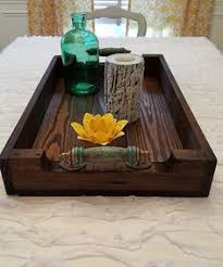 Wooden Trays For Ottomans Etsy Wherethesycamoregrow Rustic Wooden Tray Wishing