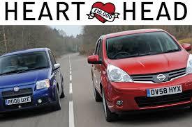 nissan micra vs renault pulse fiat panda 100hp vs nissan note heart vs head special auto