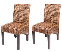 dining room woven leather chairs wicker seat rattan back table set
