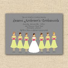 bridesmaid luncheon invitations bridesmaid luncheon invitations template style by