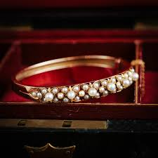 bangle bracelet with pearl images Ineffably beautiful antique victorian natural pearl bangle jpg