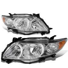 2010 toyota corolla brake light bulb 2009 2010 toyota corolla replacement crystal headlights chrome