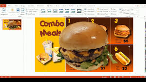use powerpoint templates to create a digital menu board youtube