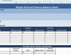 personal finance balance spreadsheet template excel u2013 excel
