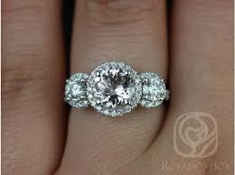 morganite engagement ring white gold rosados box dita 7mm white gold morganite and 3