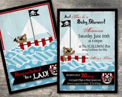 pirate baby shower invitation etsy