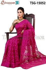 bangladeshi jamdani saree collection tangail moslin jamdani saree tsg 15052 online shopping in