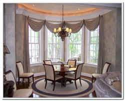 dining room curtains ideas appealing bay window curtain ideas for dining room treatments image