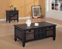 2017 popular dark wood coffee table storages