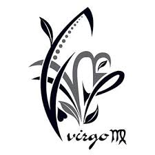 zodiac virgo design temporary tattoo